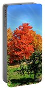 Apple Tree In September Portable Battery Charger