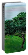 Apple Trees By The Sea Trouville Portable Battery Charger
