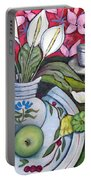 Apples And Lilies Portable Battery Charger