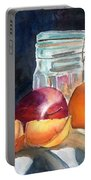 Apples And Oranges Portable Battery Charger by Mohamed Hirji