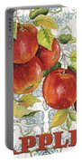 Apples On Damask Portable Battery Charger