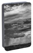 Approaching Storm Black And White Portable Battery Charger