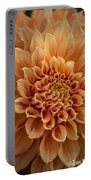 Apricot Dahlia Portable Battery Charger