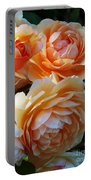 Apricot Dahlias Portable Battery Charger