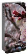 Apricot Floral Portable Battery Charger
