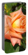 Apricot Nectar Rose Portable Battery Charger