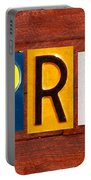 April License Plate Name Sign Fun Kid Room Decor Portable Battery Charger