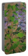 April Lilacs Portable Battery Charger