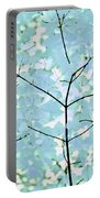 Aqua Blues Greens Leaves Melody Portable Battery Charger