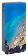 Aquamarine Shoreline At North Junction Of Crater Lake In Crater Lake National Park-oregon Portable Battery Charger