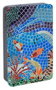Aquatic Mosaic Tile Art Portable Battery Charger
