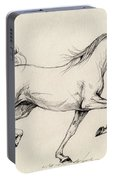 Arabian Horse Drawing 31 Portable Battery Charger