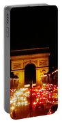 Arc De Triomphe At Night Portable Battery Charger