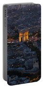 Arc De Triomphe From Above Portable Battery Charger