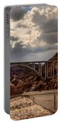 Arch Bridge And Hoover Dam Portable Battery Charger by Robert Bales