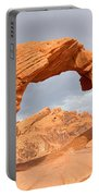 Arch Rock In The Valley Of Fire State Park In Nevada Portable Battery Charger