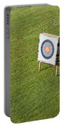 Archery Round Target On A Stand Portable Battery Charger