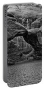 Arches National Park Black And White Portable Battery Charger