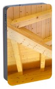 Architectural Detail Of An Indoor Wooden Ceiling Portable Battery Charger