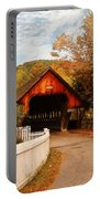 Architecture - Woodstock Vt - Entering Woodstock Portable Battery Charger by Mike Savad
