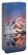 Arctic Dawn Over Reine Village Portable Battery Charger