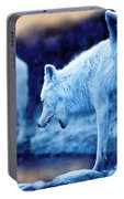 Arctic White Wolves Portable Battery Charger