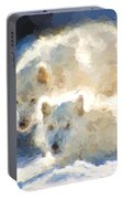 Arctic Wolves - Painterly Portable Battery Charger