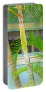 Areca Palms At The Window Portable Battery Charger