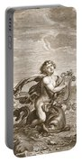 Arion Preserved By A Dolphin, 1731 Portable Battery Charger