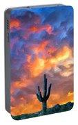 Arizona Desert Sunset Painting By Dominic Piperata