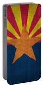 Arizona State Flag Portable Battery Charger by Pixel Chimp