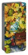 Arizona Sunflowers Portable Battery Charger by Sherry Harradence