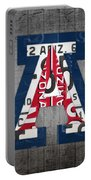 Arizona Wildcats College Sports Team Retro Vintage Recycled License Plate Art Portable Battery Charger