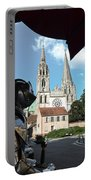 Armor And Chartres Cathedral Portable Battery Charger