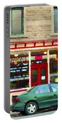 Aromate Resto Cafe Rue St Jacques St Henri  Montreal Urban Food City Scenes Carole Spandau Portable Battery Charger