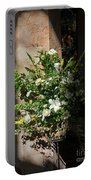 Arrangement Of White Flowers Portable Battery Charger
