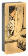 Arriving At Our Destination Portable Battery Charger by Cecil Charles Windsor Aldin