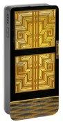 Art Deco Door Portable Battery Charger