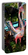 Art Deco Flamingo Portable Battery Charger