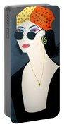 Art Deco  Hippy Girl Portable Battery Charger