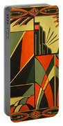 Art Deco In Orange Portable Battery Charger