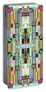 Art Deco Stained Glass 2 Portable Battery Charger