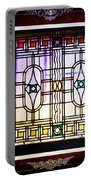 Art-nouveau Stained Glass Window Portable Battery Charger