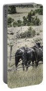 Art Of Horse Plowing Portable Battery Charger