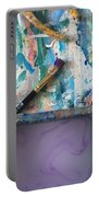 Art Table With Water And Brush Portable Battery Charger