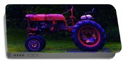 Artful Tractor In Purples Portable Battery Charger