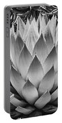 Artichoke Agave B W Portable Battery Charger by Kelley King