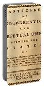 Articles Of Confederation, 1777 Portable Battery Charger