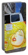 Artist With Attitude Portable Battery Charger by Allen Beatty