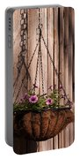 Artistic Hanging Basket Of Petunias Portable Battery Charger
